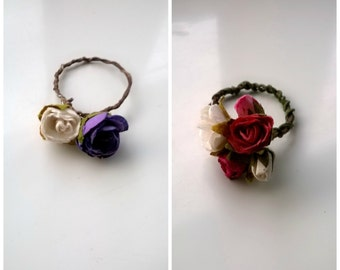 Vintage Rose Vine Ring