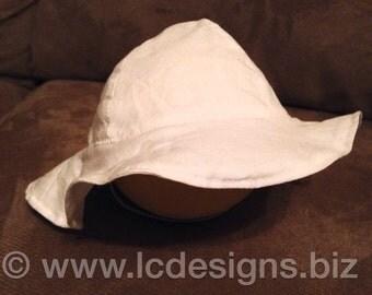 Newborn Premie Sun Hat, White