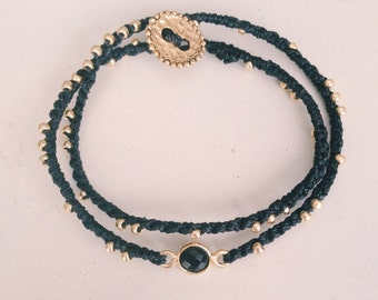 Black Onyx // Double Wrap