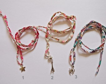 Liberty of london fabric bracelets / necklace