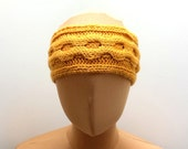 Knitting Pattern For Cable Headband, Ear Warmer Pattern For Women in 5 Sizes, Easy Instructions English And French.