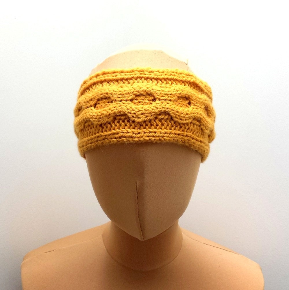 Knit Headband Ear Warmer Pattern : Knitting Pattern For Cable Headband Ear Warmer Pattern For