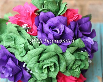 Green Rose Bouquet, Purple Bouquet, Pink Bouquet