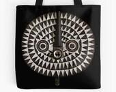 Tote Bag — Portrait of Bobo-Bwa Sun Mask / Ethnographic Art Image Series / Tribal Art–African Art
