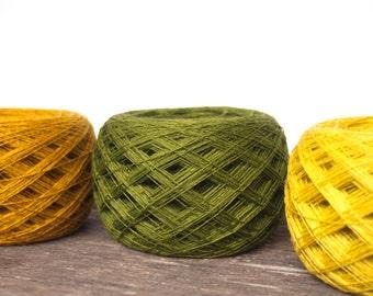 3 Balls 3ply Natural Linen Yarn, High Quality, Linen Yarn For Crochet, Knitting, 300 g/ 10.5 oz