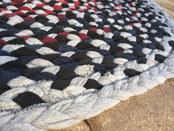Rag Rug Zigzag Braided Made From T Shirts 43 By