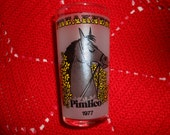 Seattle Slew 1977 Preakness Triple Crown Winner Baltimore Horse Race 5th year Souvenir Cocktail Glass Seattle Slew