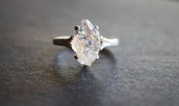 Raw Diamond Engagement Ring, Rough Natural Uncut Diamond Wedding Band, Raw  Gemstone Promise Ring