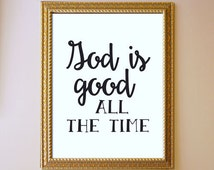 Popular items for bible verse wall art on etsy - Download god is good all the time ...