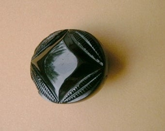 Whitby Jet Antique, Upcycled, Brooch