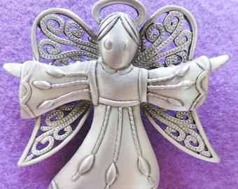 JJ Jonette Hallelujah Angel Singing Praises Brooch Pin