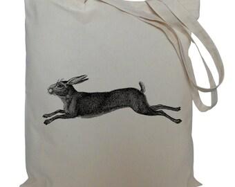 Tote bag/ drawstring bag/ Hare/ cotton bag/ material shopping bag/ shoe bag/gift bag/ animal/ market bag