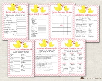 Rubber Ducky Baby Shower Games, Pink Rubber Duck Baby Shower Games, Ducky Baby Shower Games, Shower Games, Girl Rubber Ducky Baby Shower