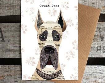 Great Dane dog greetings card