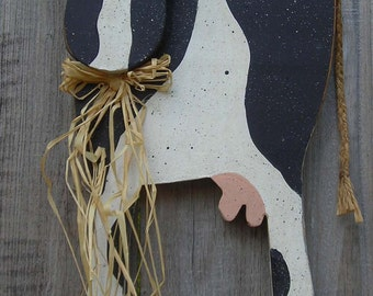 COW, Black and White, Measures about 9 inches by 14 inches by 1 3/4 inch, Free Shipping