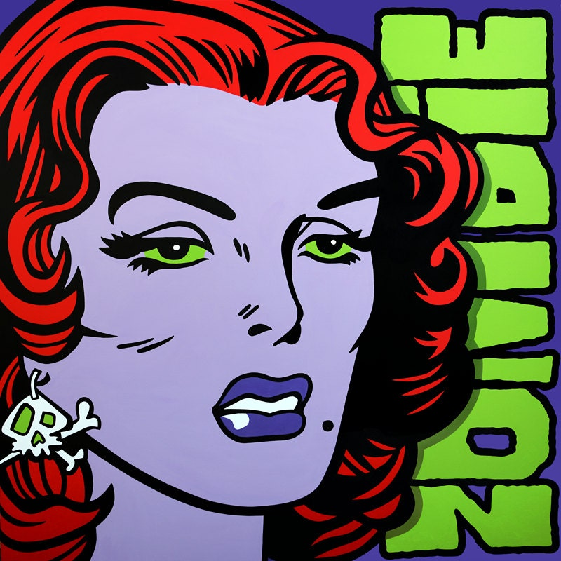 Professional Screeding Pop And Painting Designs Works: Pop Art Painting Zombie Apocalypse Acrylic On