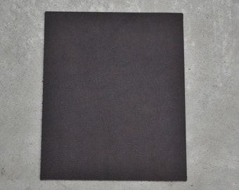 "Brown Leather Cow Hide Oil Tan 8"" x 10"" Pre-cut 6 ounces pebble grain TA-25023 (Sec. 4,Shelf 4,D)"