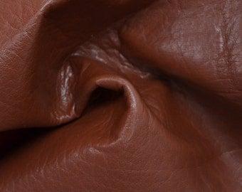 """Brown Leather Cow Hide 12"""" x 12"""" Pre-cut 4 ounces grainy TA-26435 (Sec. 5,Shelf 7,A)"""
