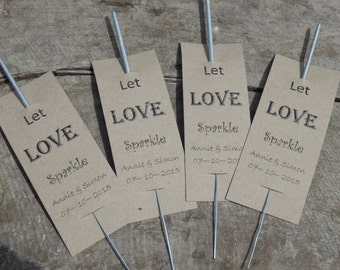 Wedding Sparklers. Personalised Wedding favors. Customised Sparkler wedding favours. Sparkler wedding favors.