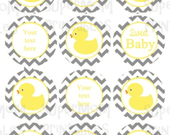 Rubber Duck Cupcake Toppers