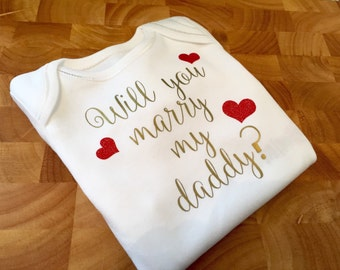 Marriage proposal idea - Babygrow, onesie, all in one, bodysuit