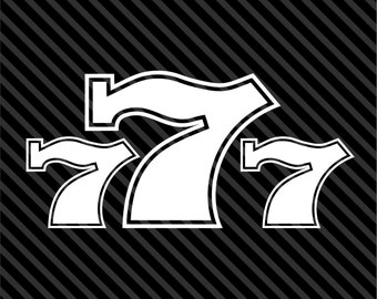 Gambling Lucky 777 Wall Decal Vinyl Car Sticker Jdm Ego Car - Choice of Colors and Sizes