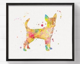 Chihuahua Art, Chihuahua Painting, Chihuahua Print, Watercolor Chihuahua, Dog Art Print, Dog Wall Art, Dog Wall Decor, Dog Lover Gift