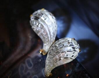 Incredible, Rare, Vintage Kenneth J Lane Sparkling Crystal Clip-on Earrings
