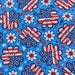 Big Red White and Blue Daisies on Light Blue Fabric | cotton fabric by the yard | clothing fabric | patriotic fabric | USA material