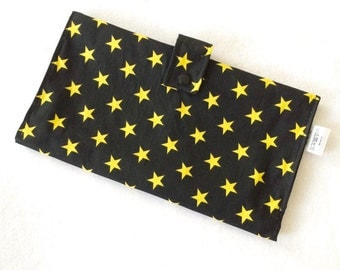 Nappy Wallet - Black & Yellow Stars
