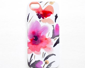 Phone Case Watercolor iPhone 7 Case Floral Samsung Galaxy S7 Case watercolor Samsung Galaxy S6 Case Floral iPhone 6 Case floral phone cover