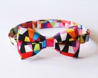 Bow Tie - Funky Geometric, colorful, baby bow tie, boy, kids, toddler, wedding