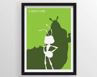 8.5 x 11 A Bug's Life Minimalist Poster