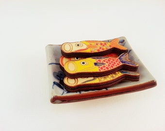 Wooden Japanese Koinobori Fish Pin (1 pc.)