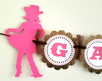 Cowgirl Banner - Cowgirl Birthday Banner - Cowgirl Baby Shower Banner - Cowgirl Decorations