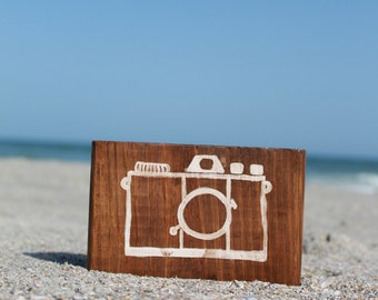 Camera Wooden Sign