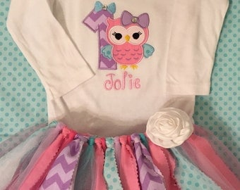 Look Whoo Owl Birthday Tutu Outfit