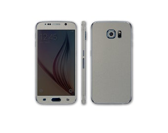 Samsung Galaxy S6 Full Body Wrap DECAL Sticker Skin Kit Metal Series by Stickerboy - Set 1
