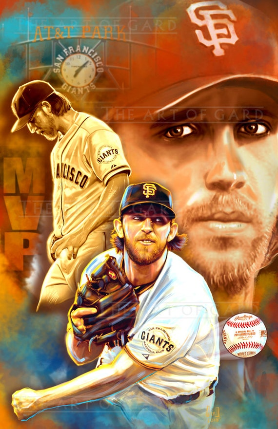 Madison Bumgarner MVP Collage (11X17 artist's print)