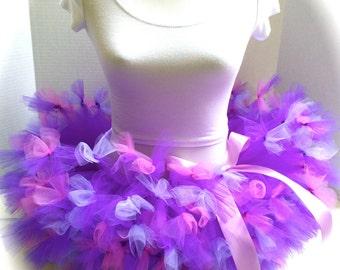 Princess Tutu, Relay For Life Tutu, Rock Star Tutu Skirt, Roller Derby Tutu, Pink and Purple Tutu Skirt, Birthday Tutu, Punk Rock Tutu