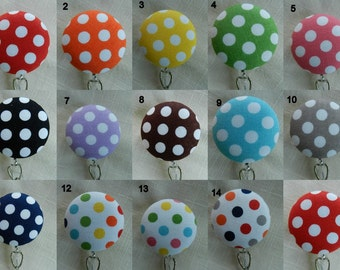 Dots Badge reel~ Retractable Badge Holder Reel, ID Name Holder,Security tag holder