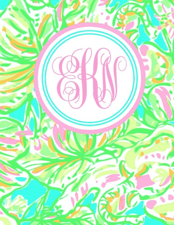 lilly pulitzer inspired binder cover and spine