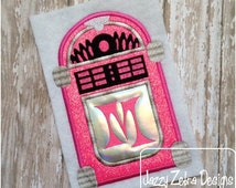 Juke Box Applique Design