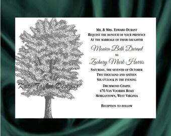 Tree Invitation & RSVP  Tree Wedding Invitation Tree Wedding Invitation - Oak Tree Invitation - Tree Design 35