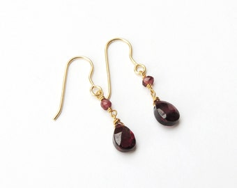 Garnet briolettes earrings