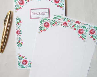 Stationery, folk flower motifs
