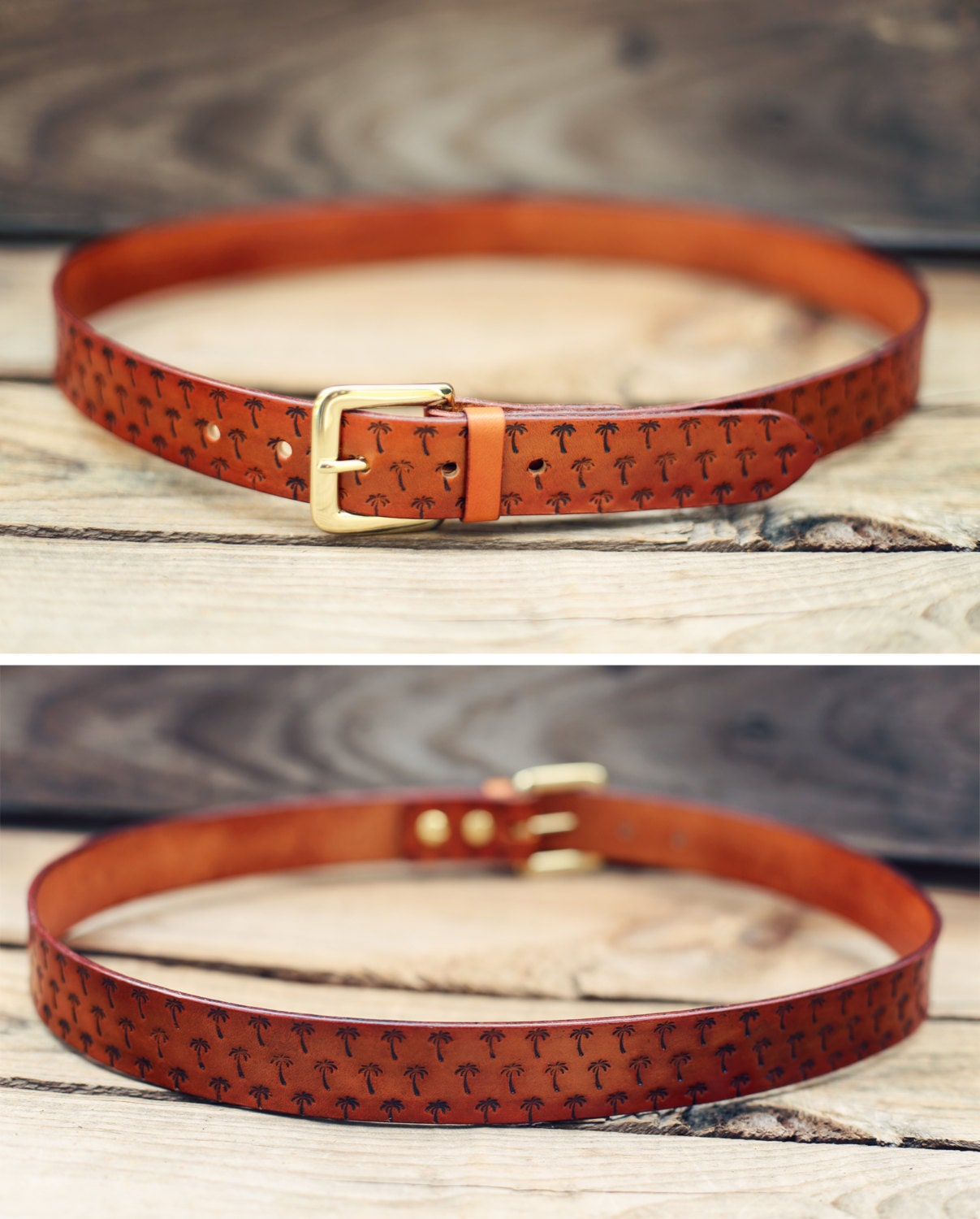 custom leather belt handmade personalized gift stain