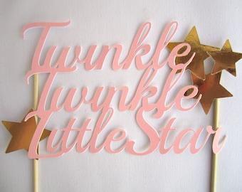 Twinkle Twinkle Little Star Cake Topper, Baby's First Birthday Cake Topper, Baby Shower Cake Topper, Star Birthday Party, Smash Cake Topper