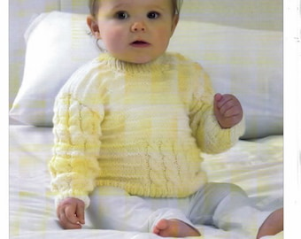 Knitting Pattern Baby Child Cardigans & jumper UKHKA  DK 124 12-20 inch  new