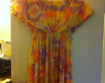 Two Piece Floral Negligee